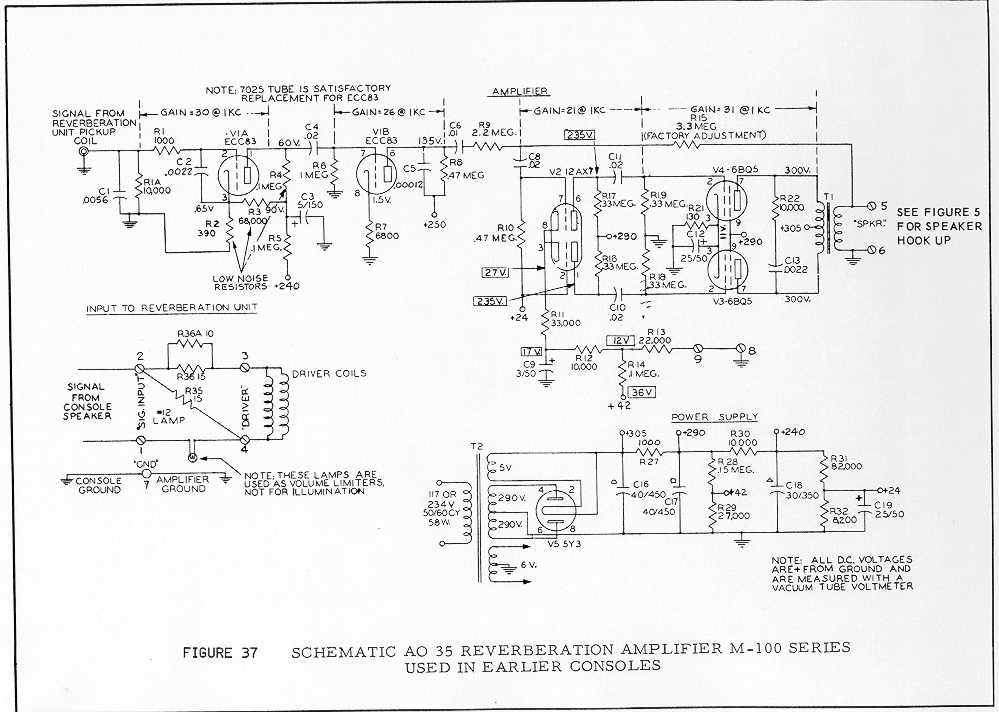 Hammond schematics here and elsewhere on the Net on