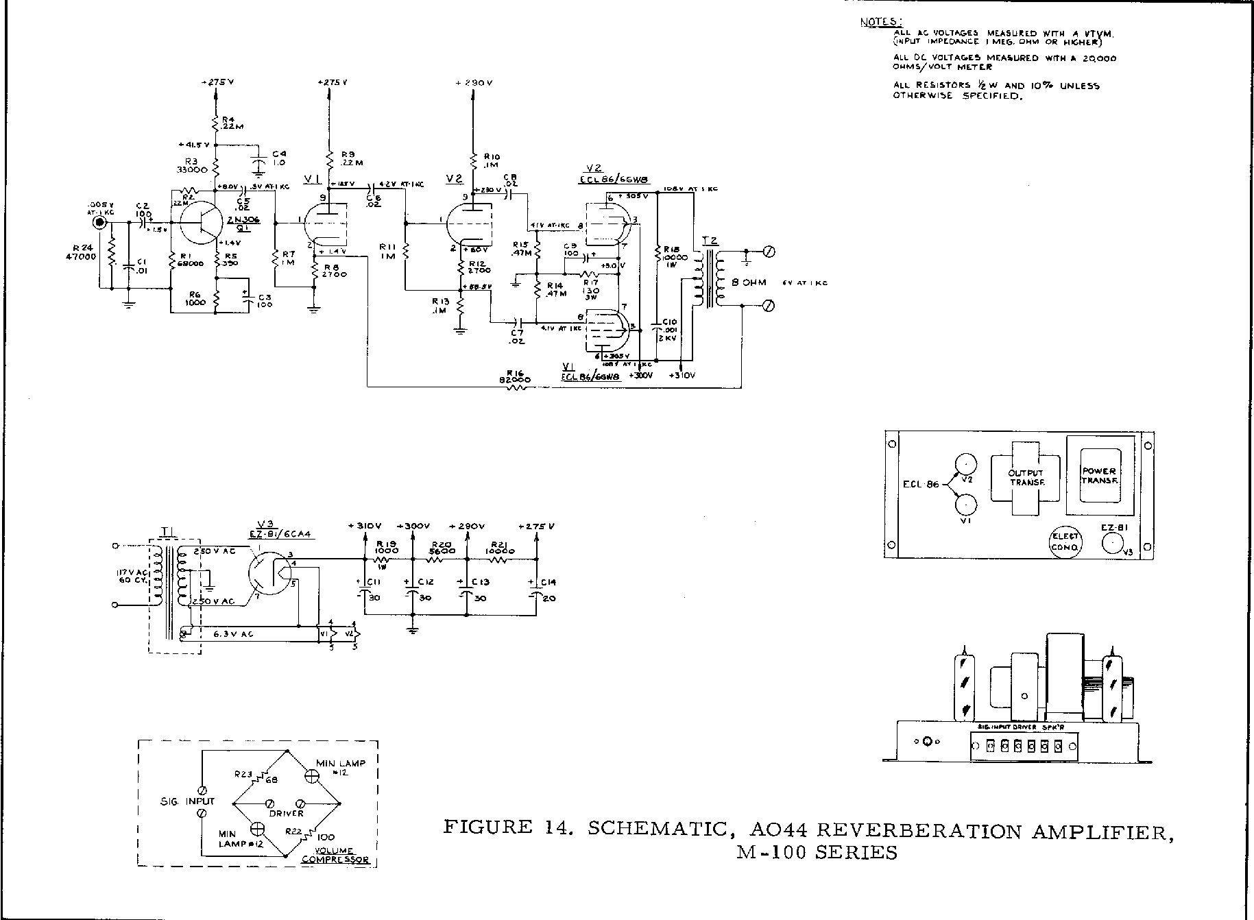 Hammond Schematics Here And Elsewhere On The Net Wiring Diagram For Subs Jl Audio 500 1 M 100 A Ao 44 Reverb Amp Schematic