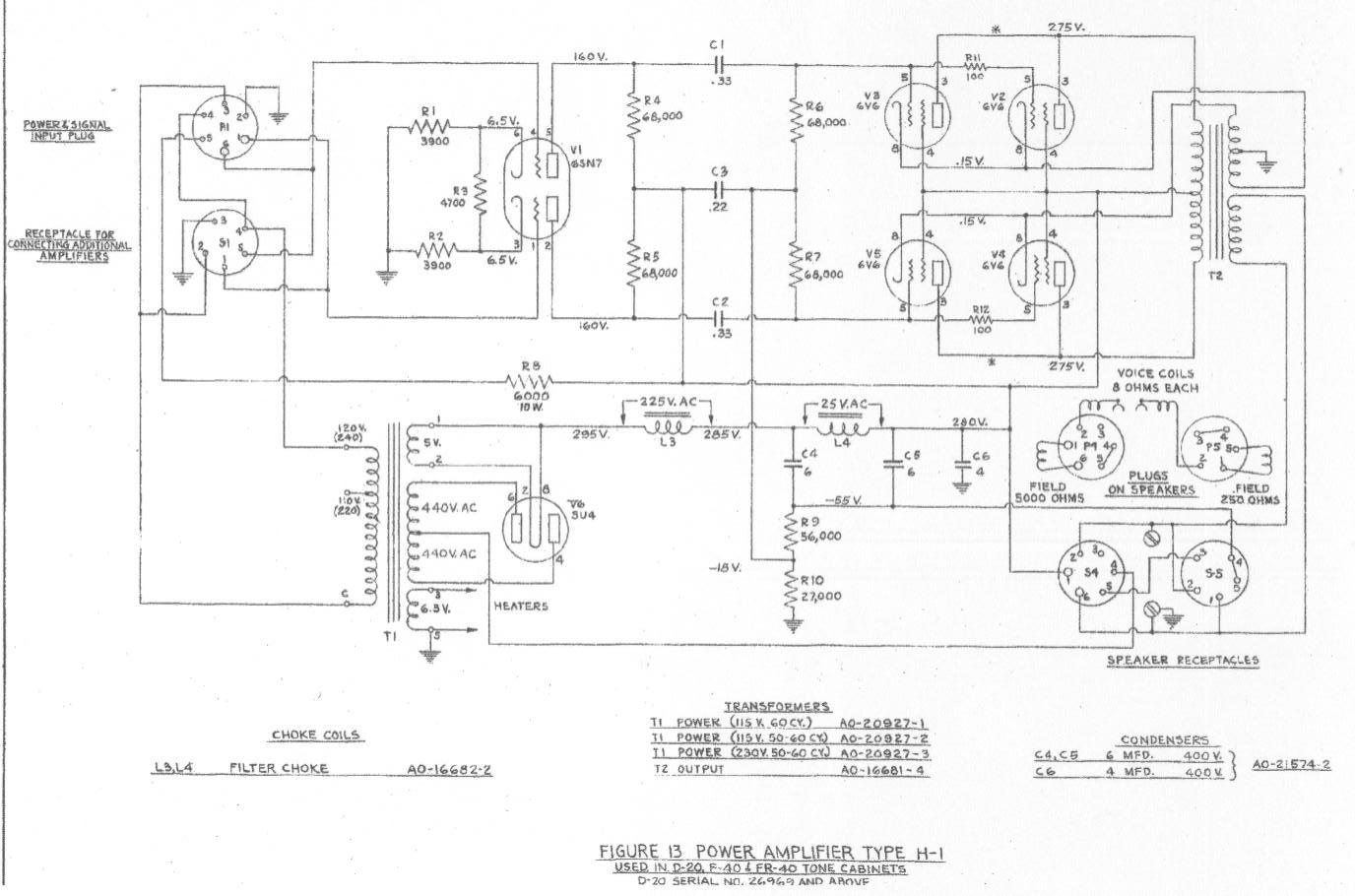 Hammond Organ Wiring Schematics | Wiring Schematic Diagram on