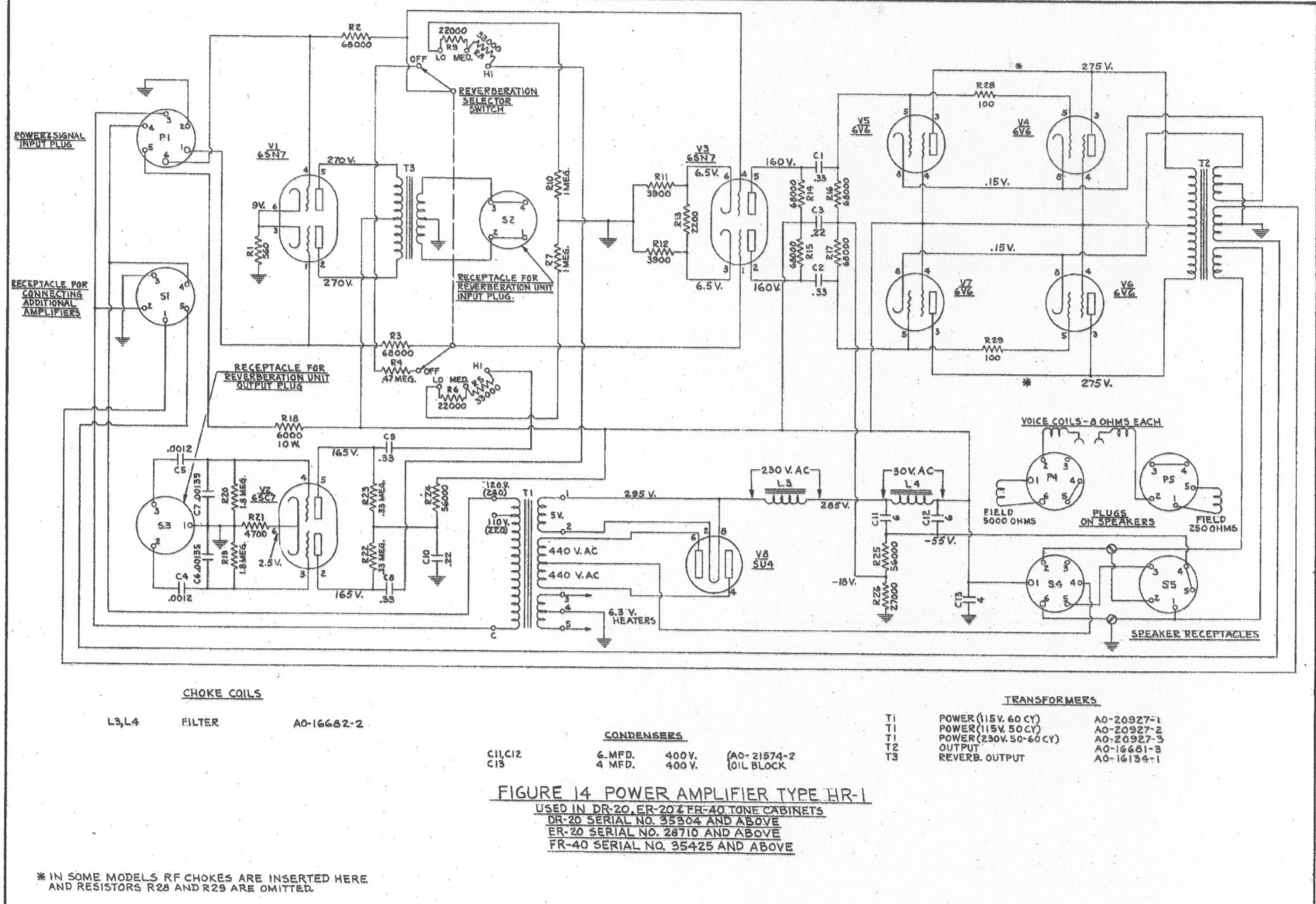 Hammond Schematics Here And Elsewhere On The Net Power Car Amplifier Wiring Diagram Pdf Tone Cabinets